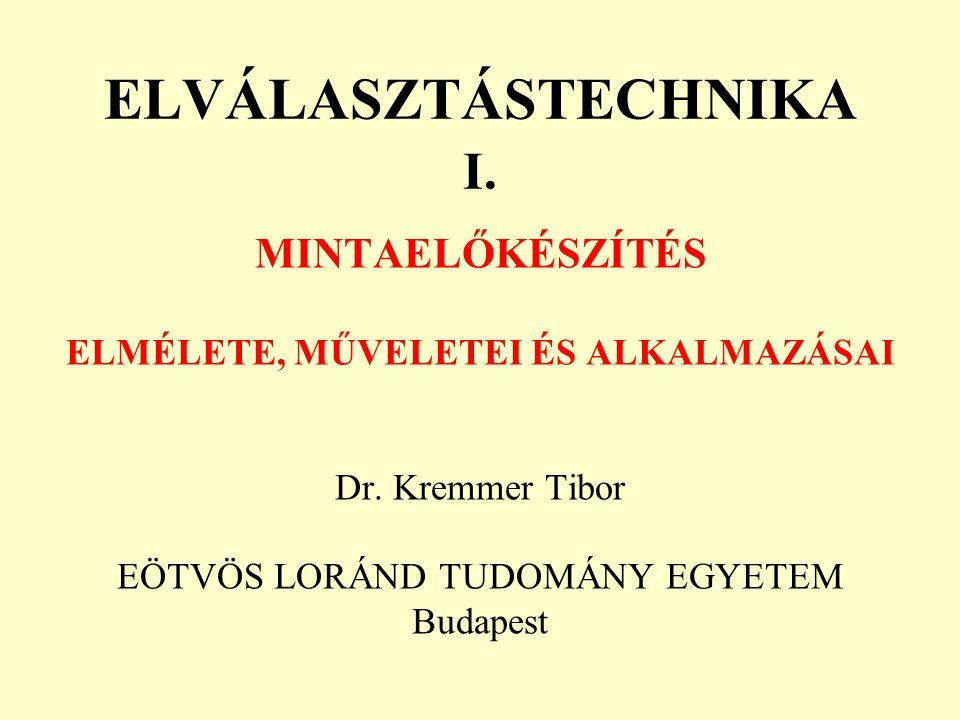 ELVÁLASZTÁSTECHNIKA I.
