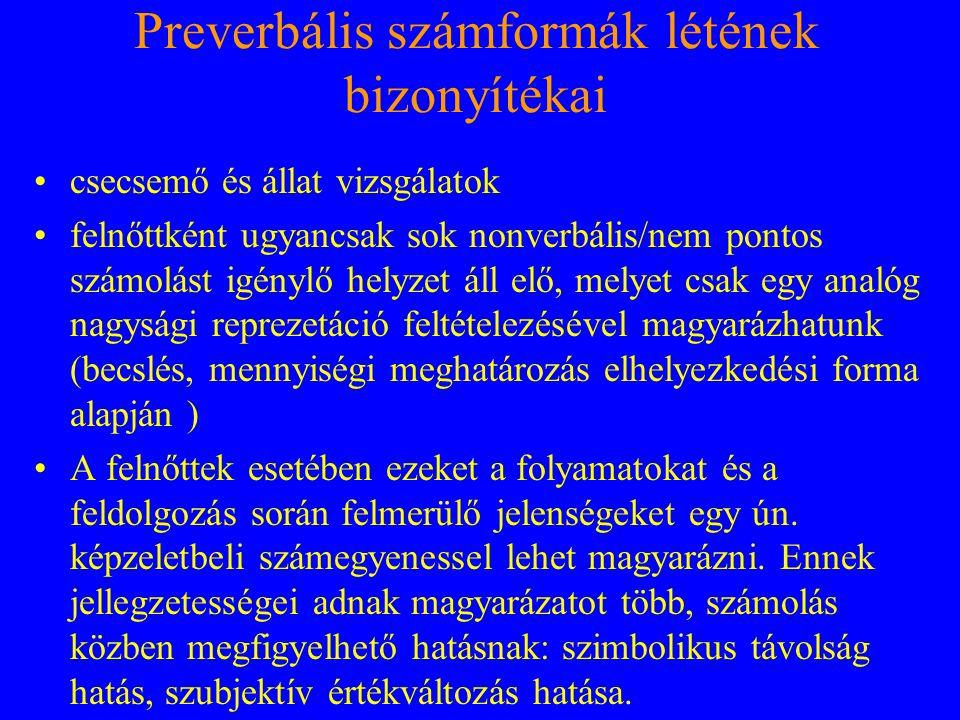 Preverbális számformák létének bizonyítékai