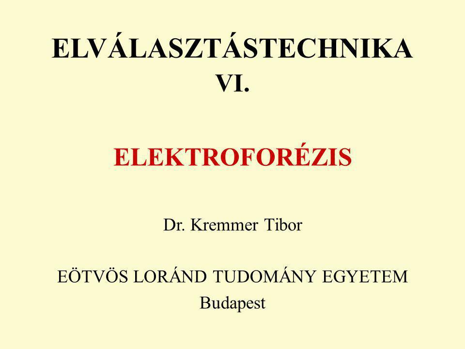 ELVÁLASZTÁSTECHNIKA VI.