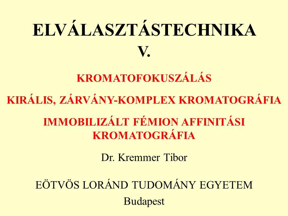 ELVÁLASZTÁSTECHNIKA V.