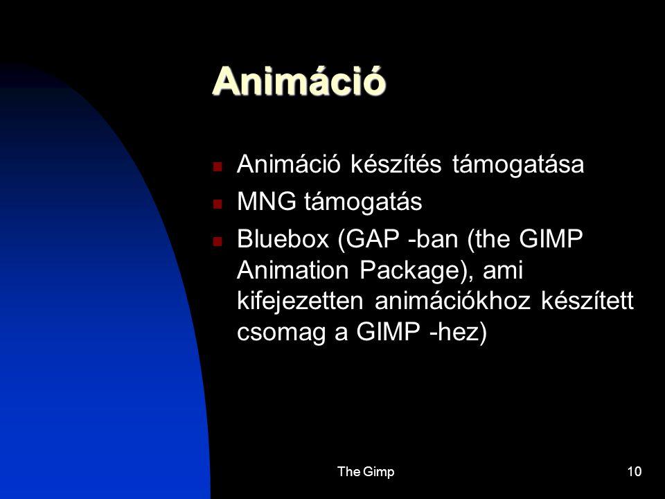 Animáció Animáció készítés támogatása MNG támogatás