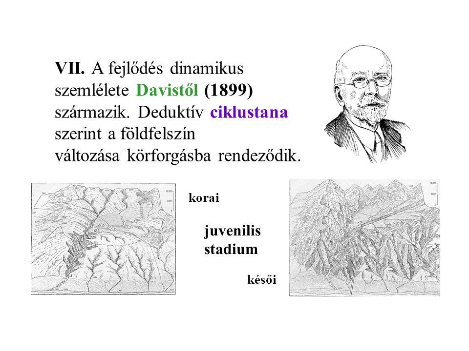 VII. A fejlődés dinamikus szemlélete Davistől (1899)