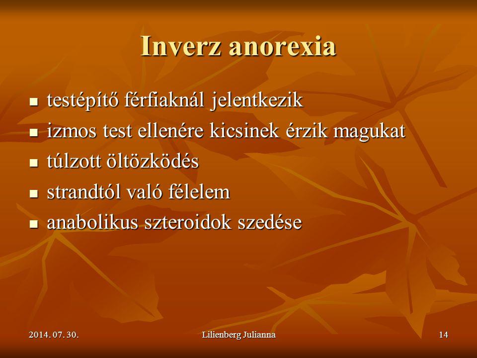 Inverz anorexia testépítő férfiaknál jelentkezik