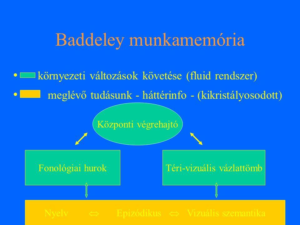 Baddeley munkamemória