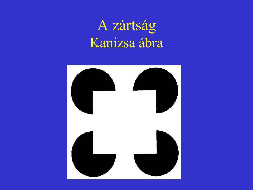 A zártság Kanizsa ábra