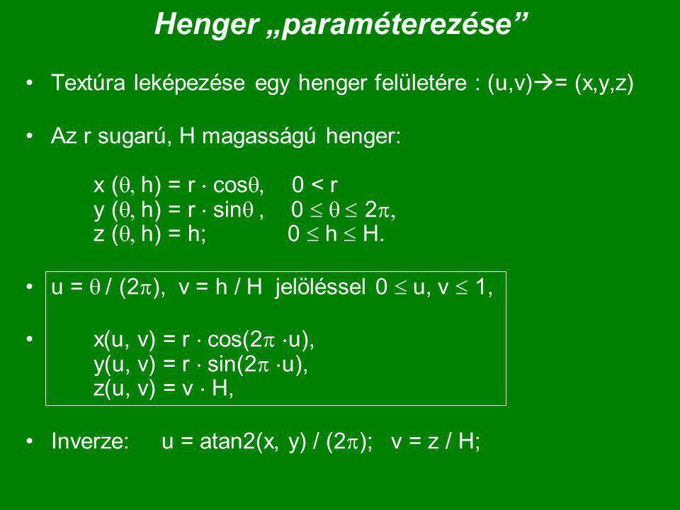 "Henger ""paraméterezése"