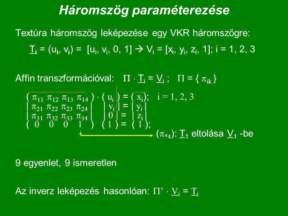 Háromszög paraméterezése