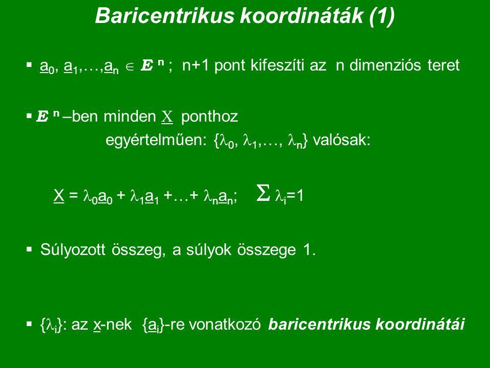 Baricentrikus koordináták (1)