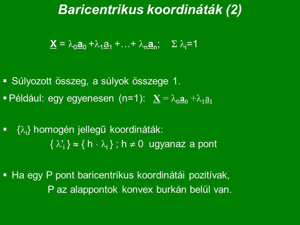Baricentrikus koordináták (2)