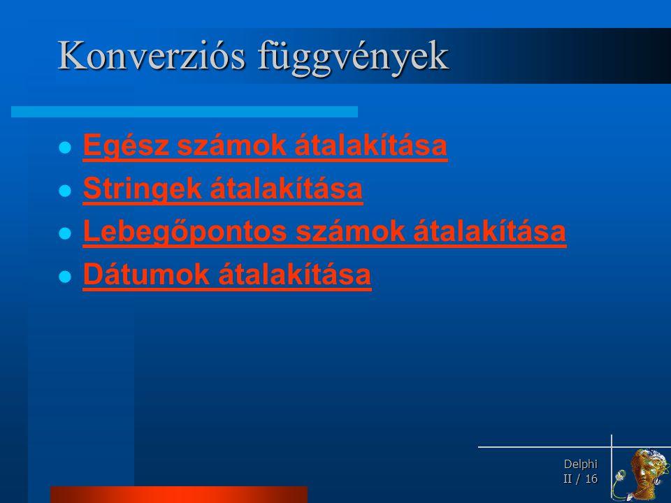 Konverziós függvények