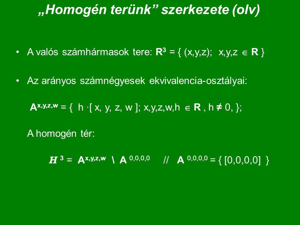"""""""Homogén terünk szerkezete (olv)"""