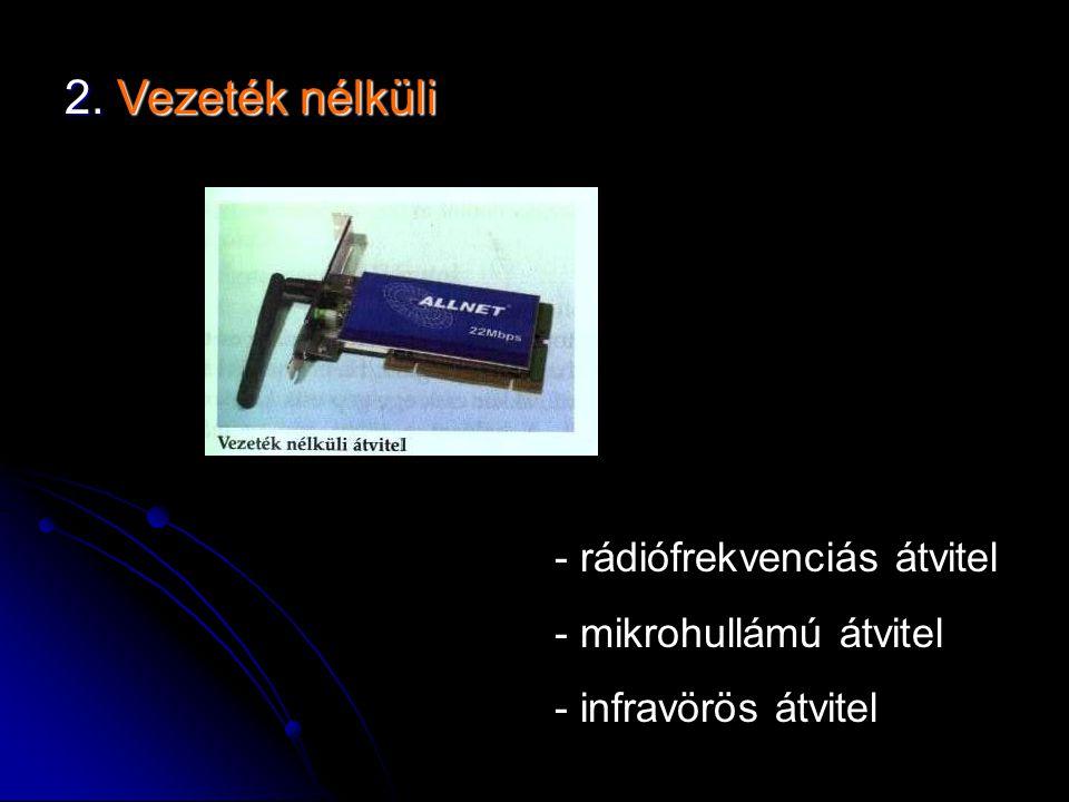 2. Vezeték nélküli rádiófrekvenciás átvitel mikrohullámú átvitel
