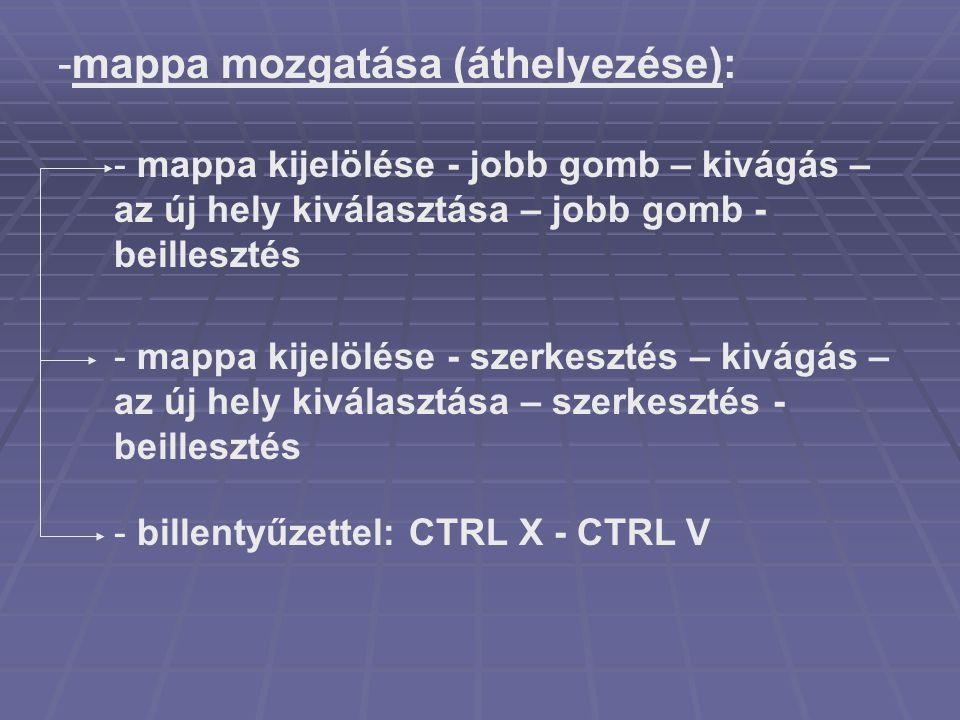 mappa mozgatása (áthelyezése):