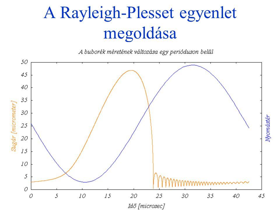 A Rayleigh-Plesset egyenlet megoldása