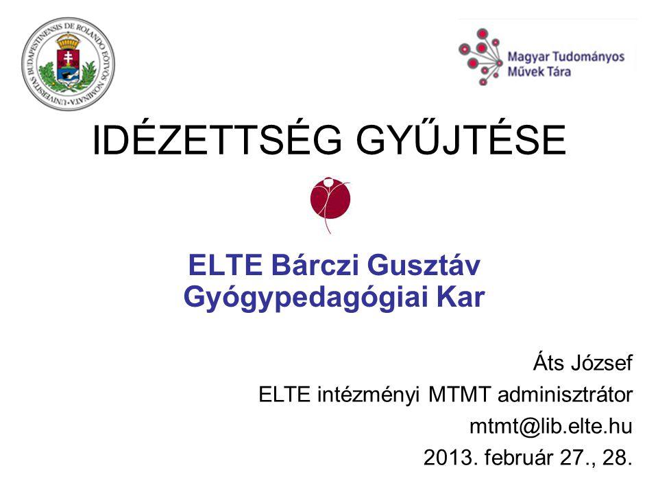 ELTE Bárczi Gusztáv Gyógypedagógiai Kar