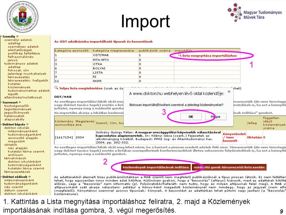 Import 1. 2. 3.