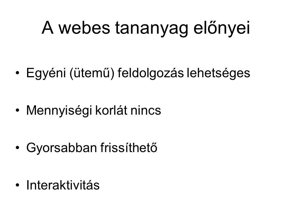 A webes tananyag előnyei