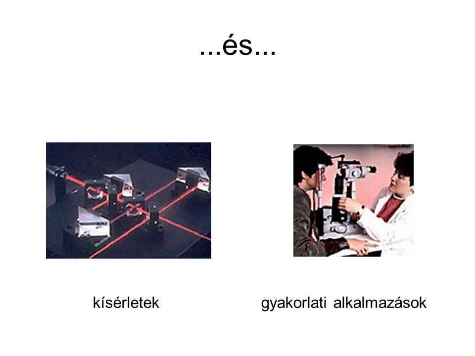 ...és... kísérletek gyakorlati alkalmazások