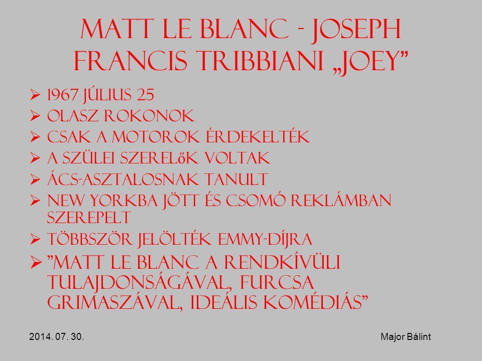 "Matt Le Blanc - Joseph Francis Tribbiani ""Joey"