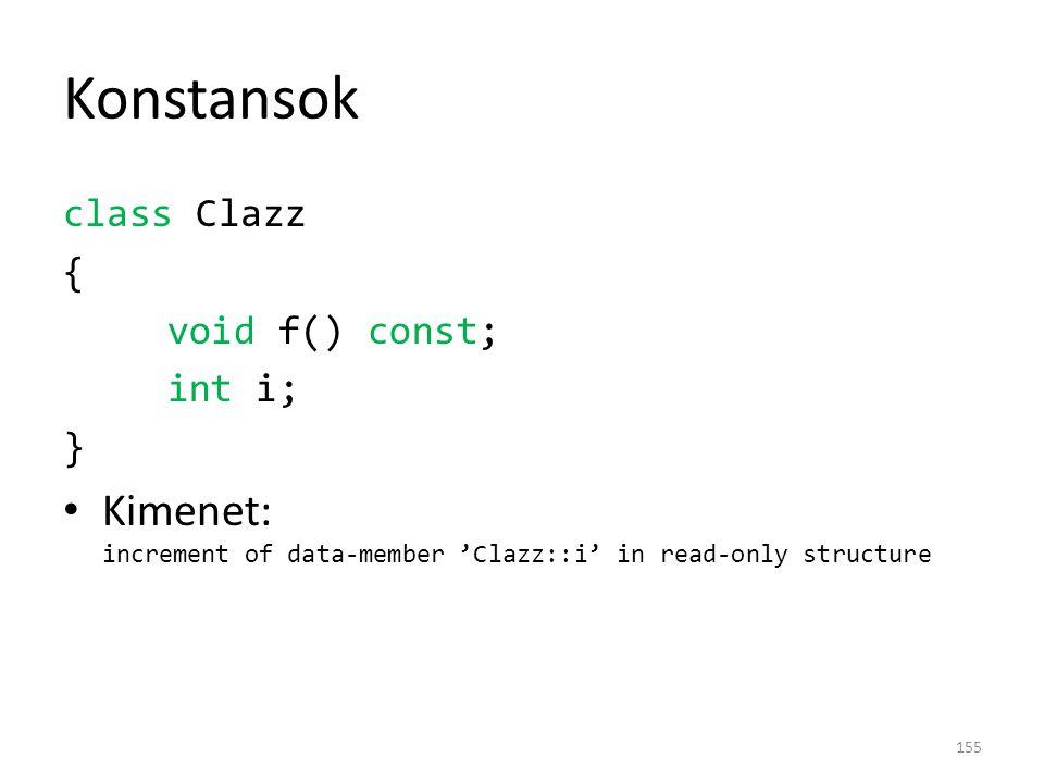 Konstansok class Clazz.