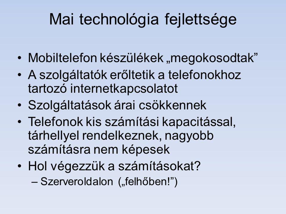 Mai technológia fejlettsége