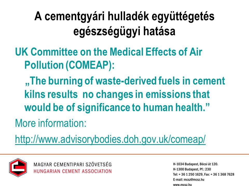 A cementgyári hulladék együttégetés egészségügyi hatása
