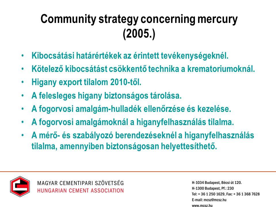 Community strategy concerning mercury (2005.)