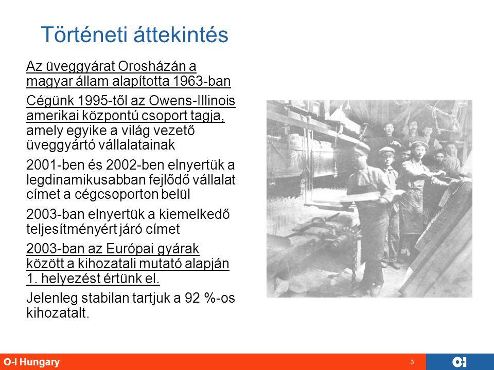 Történeti áttekintés Az üveggyárat Orosházán a magyar állam alapította 1963-ban.