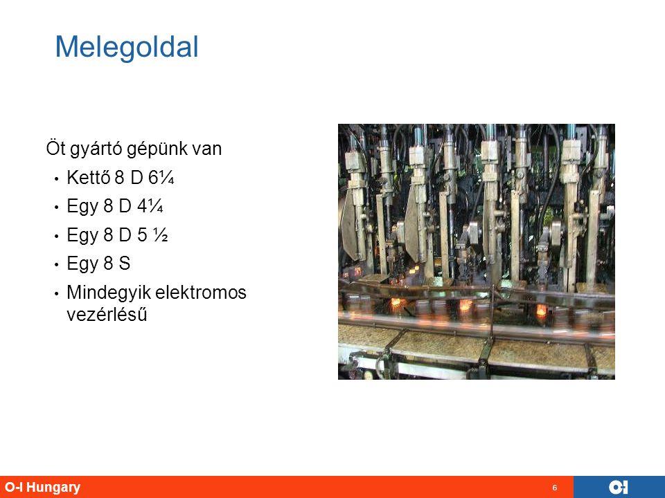 Melegoldal Öt gyártó gépünk van Kettő 8 D 6¼ Egy 8 D 4¼ Egy 8 D 5 ½