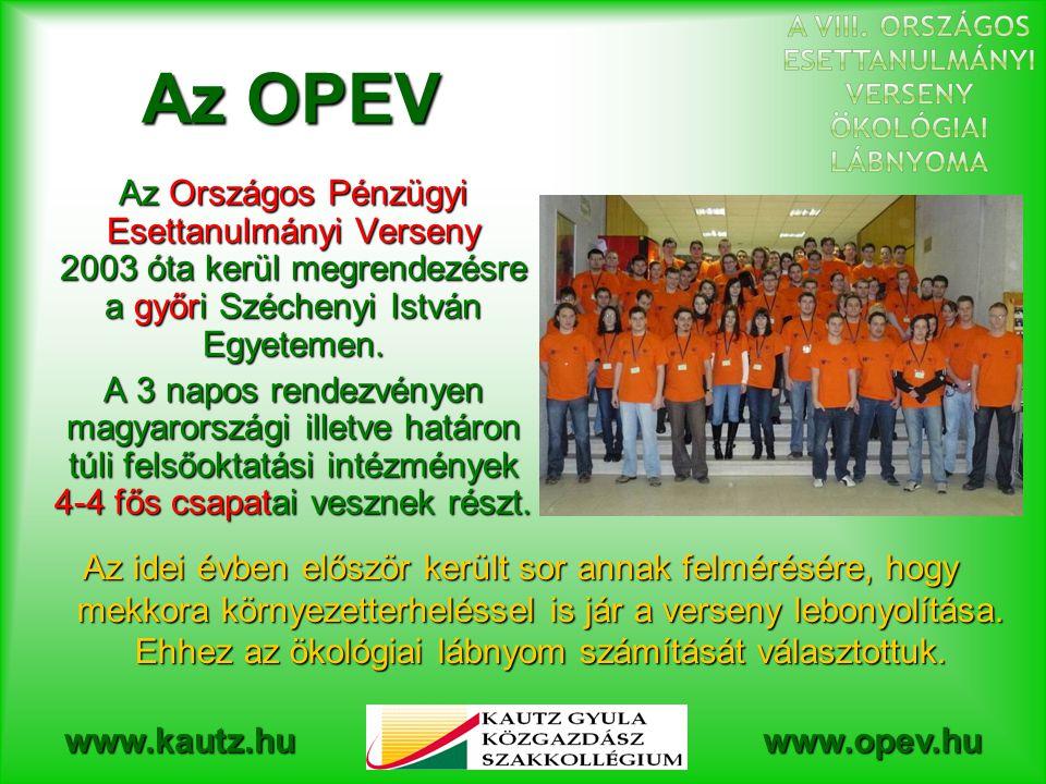 Az OPEV Az Országos Pénzügyi Esettanulmányi Verseny 2003 óta kerül megrendezésre a győri Széchenyi István Egyetemen.
