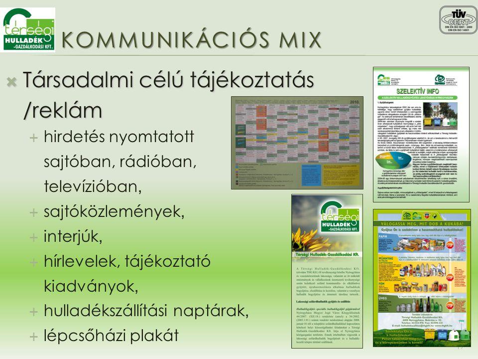 Társadalmi célú tájékoztatás /reklám