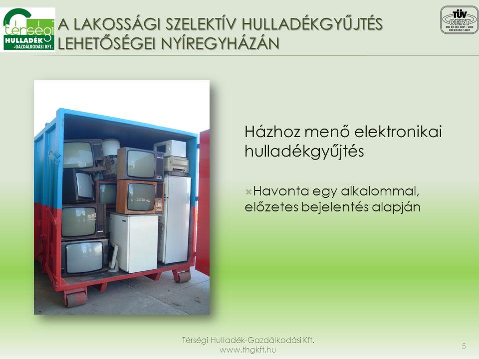 A lakossági szelektív hulladékgyűjtés lehetőségei Nyíregyházán