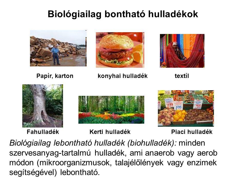 Biológiailag bontható hulladékok
