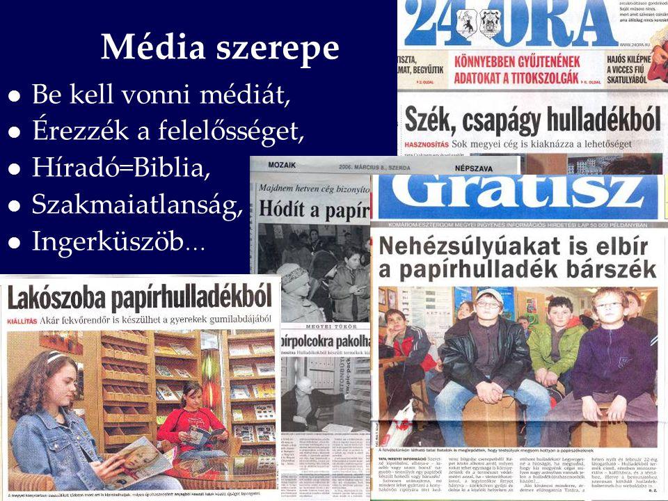 Média szerepe Be kell vonni médiát, Érezzék a felelősséget,