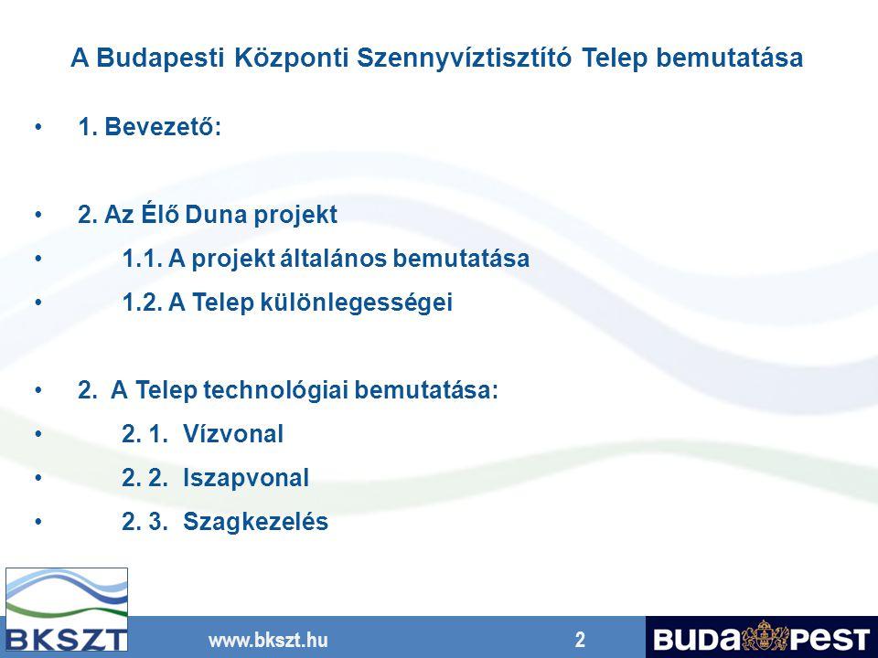 A Budapesti Központi Szennyvíztisztító Telep bemutatása