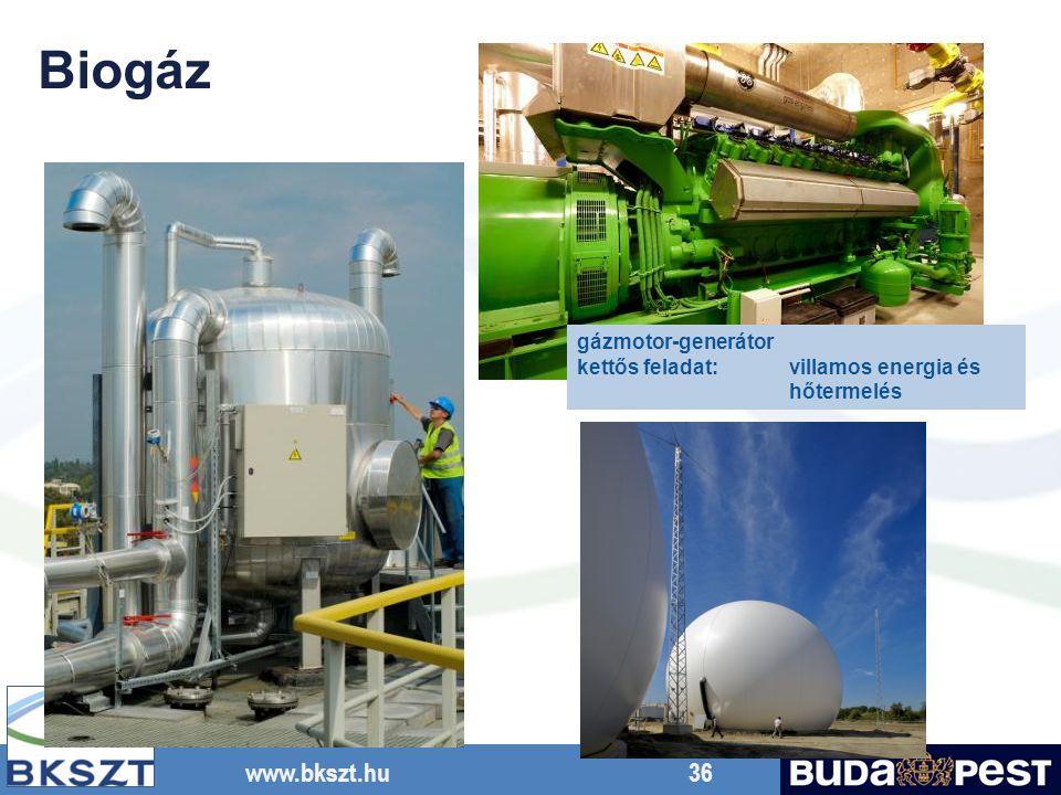 Biogáz gázmotor-generátor kettős feladat: villamos energia és