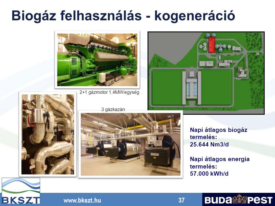 Biogáz felhasználás - kogeneráció