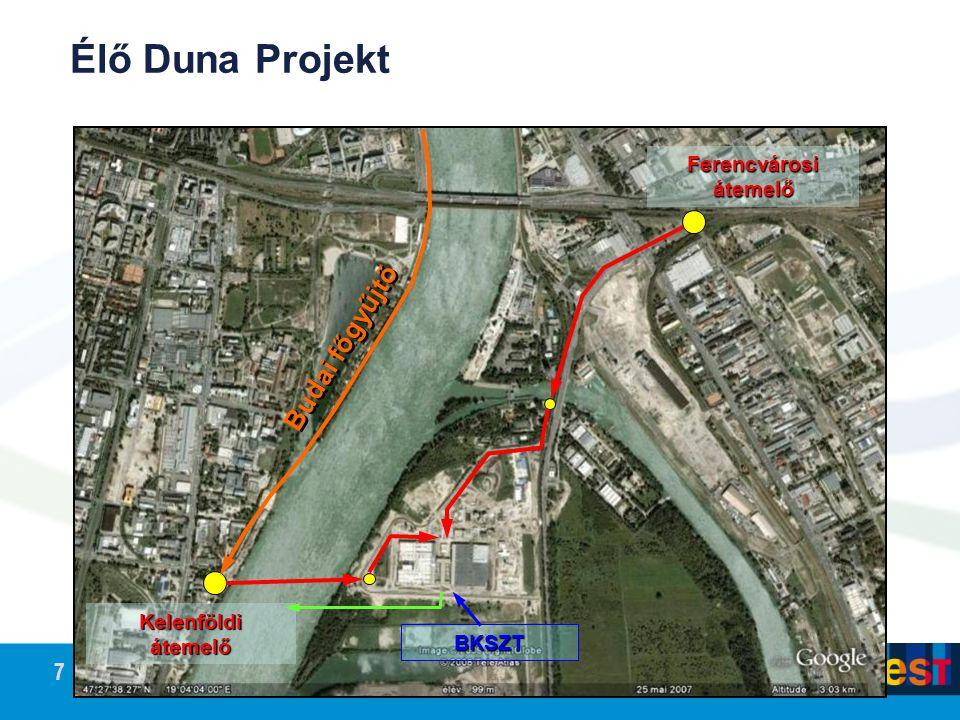 Élő Duna Projekt Budai főgyűjtő Ferencvárosi átemelő Kelenföldi