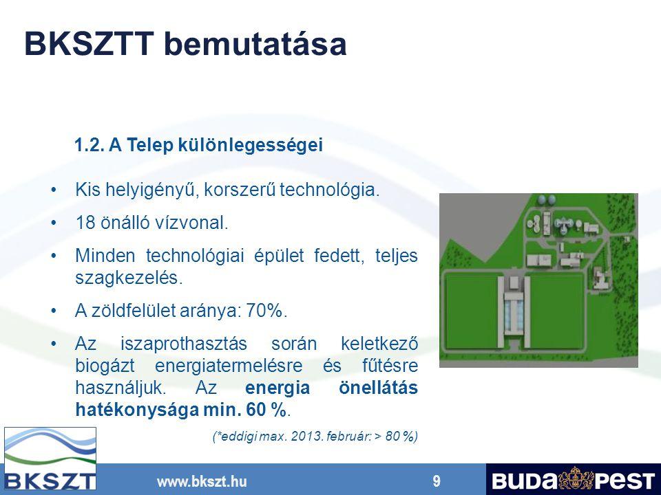 BKSZTT bemutatása 1.2. A Telep különlegességei