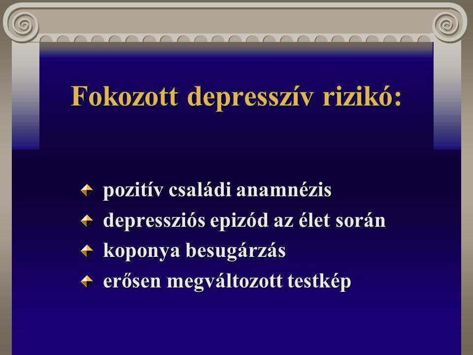 Fokozott depresszív rizikó:
