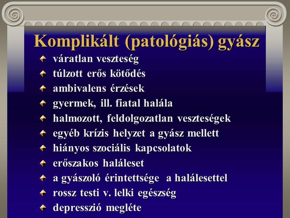 Komplikált (patológiás) gyász