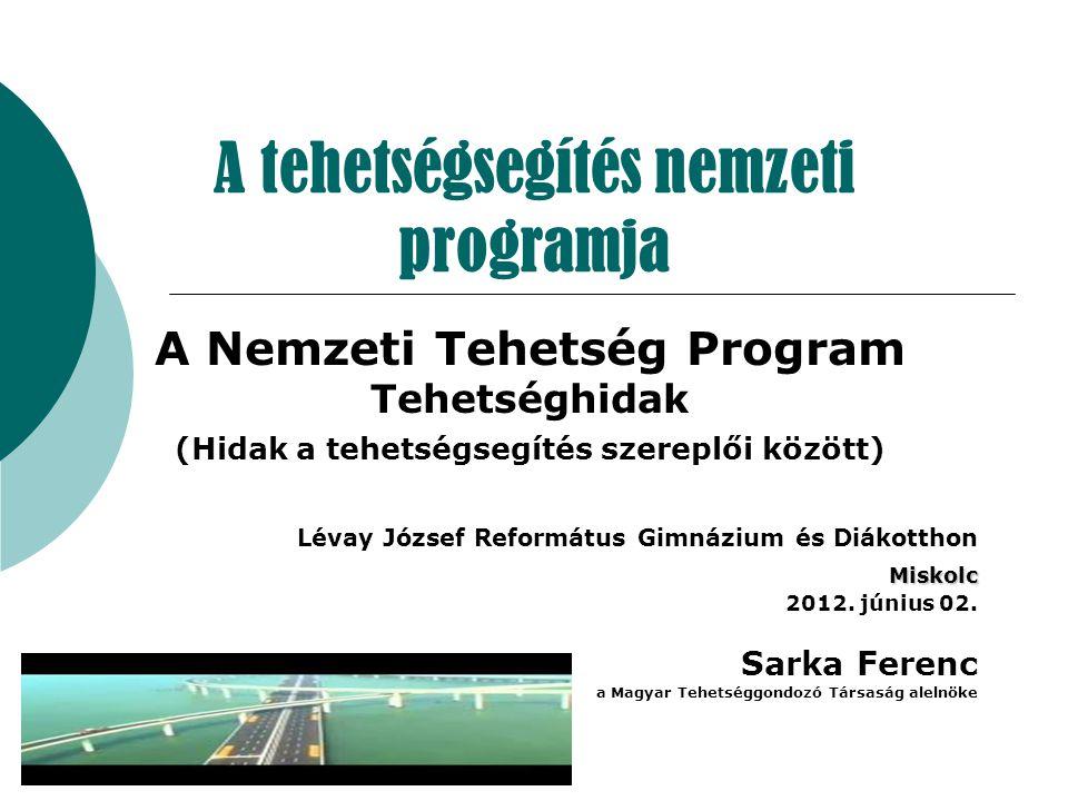 A tehetségsegítés nemzeti programja