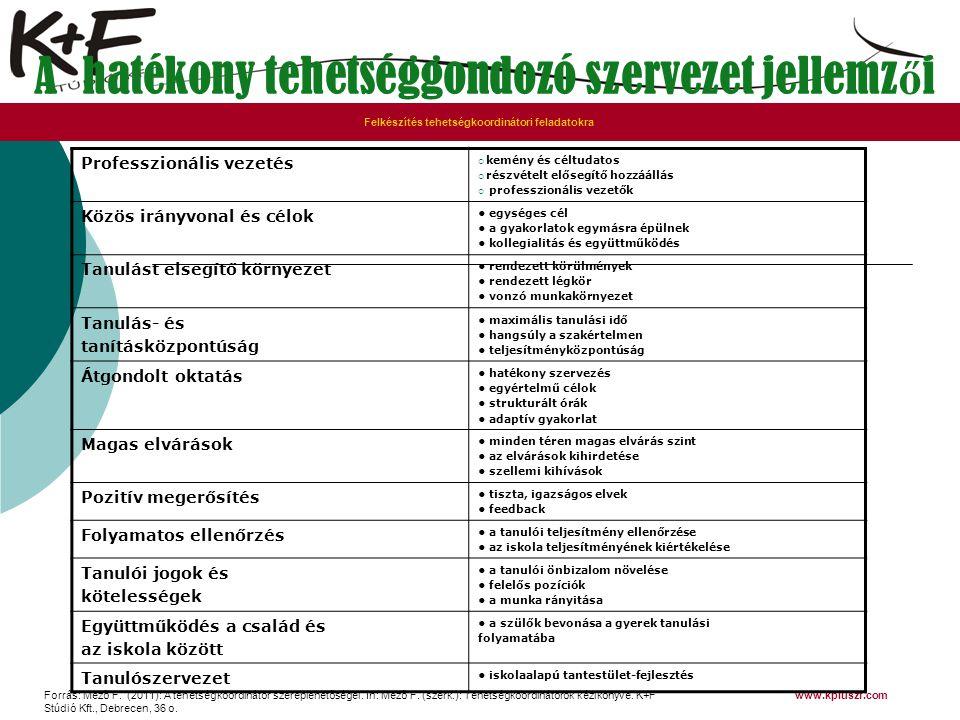 A hatékony tehetséggondozó szervezet jellemzői