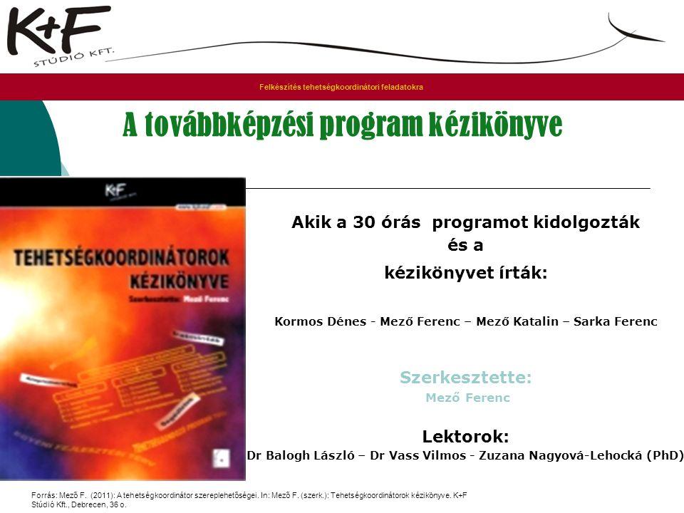 A továbbképzési program kézikönyve