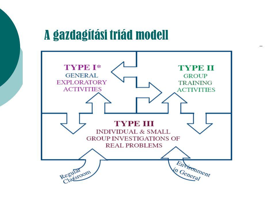 A gazdagítási triád modell