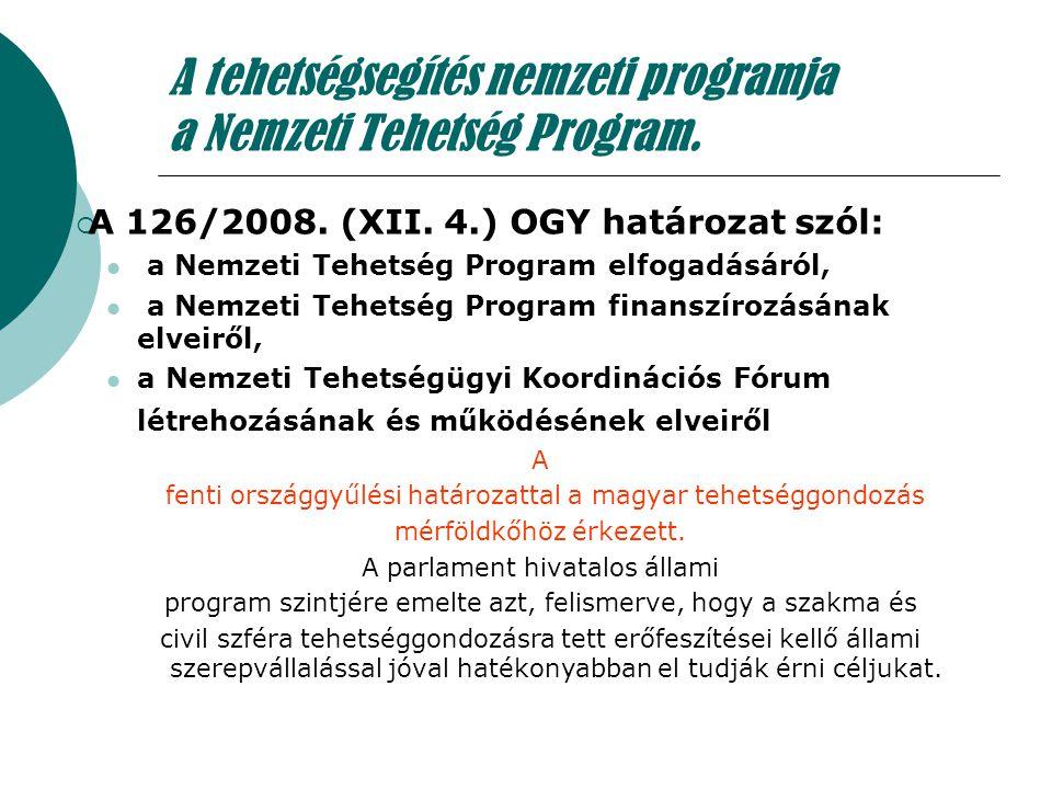 A tehetségsegítés nemzeti programja a Nemzeti Tehetség Program.