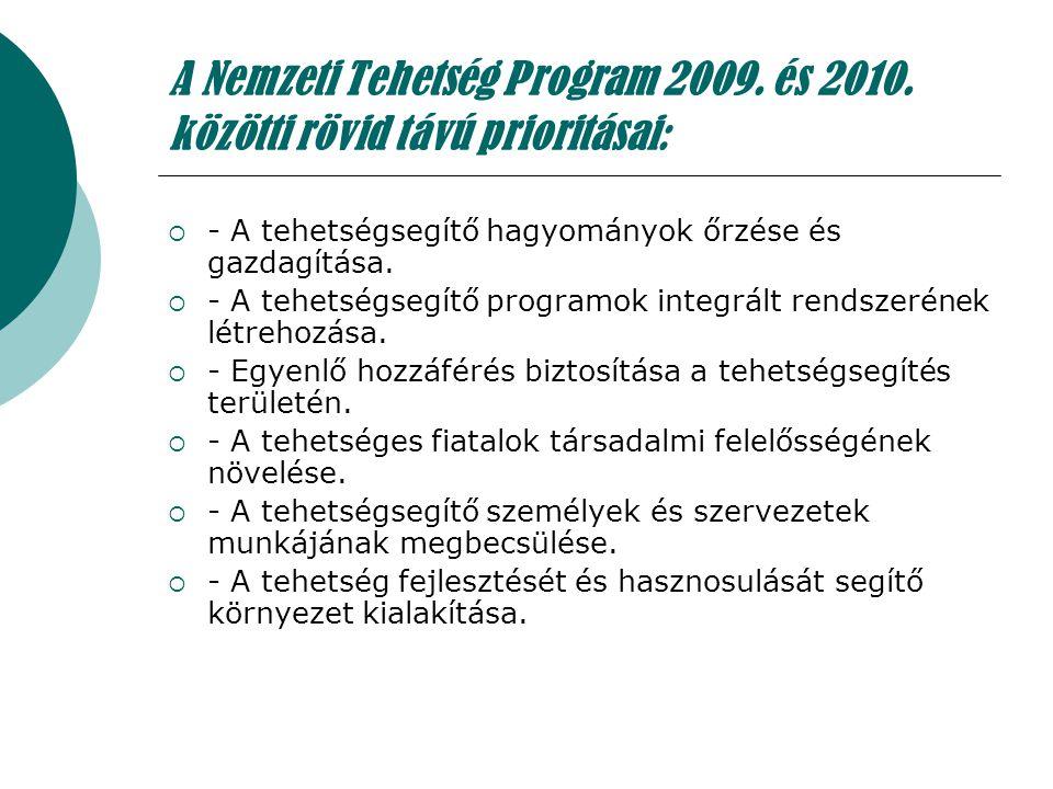 A Nemzeti Tehetség Program 2009. és 2010