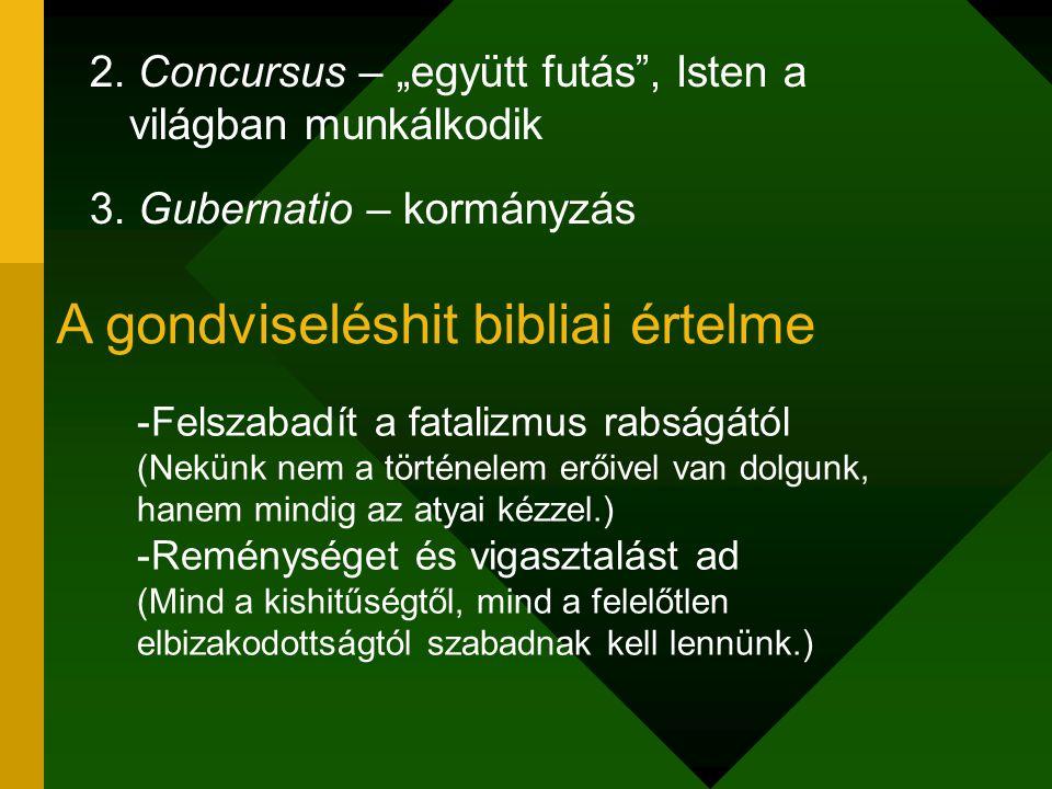 A gondviseléshit bibliai értelme