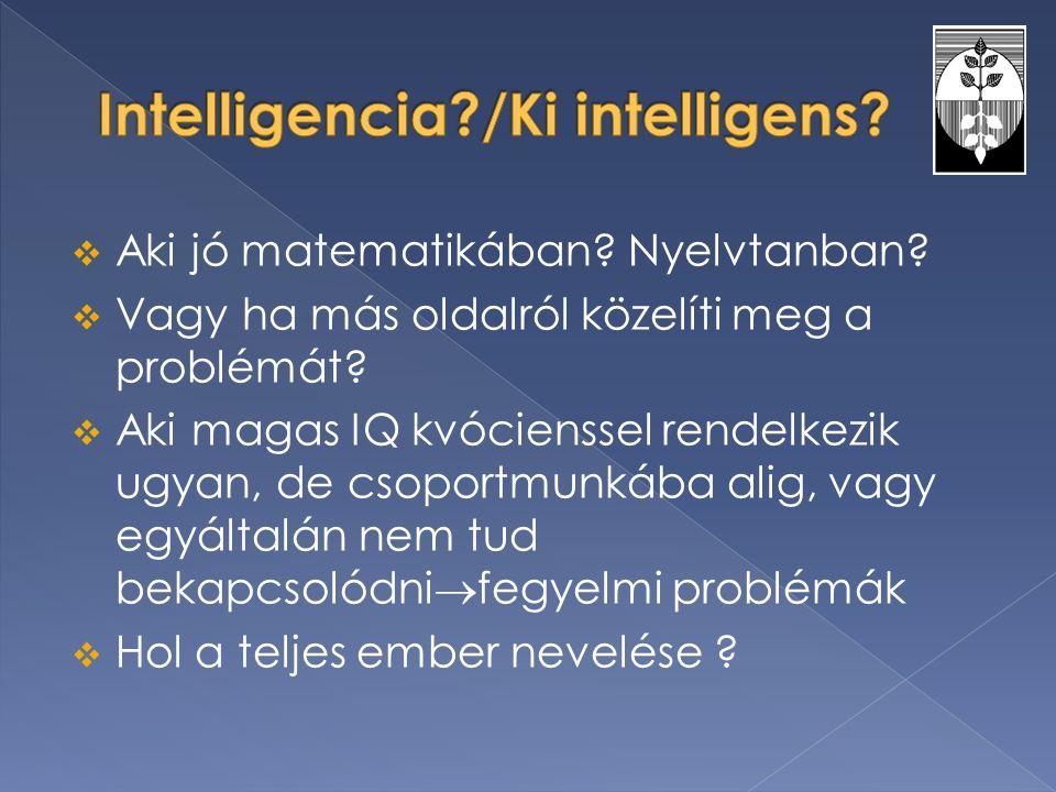 Intelligencia /Ki intelligens