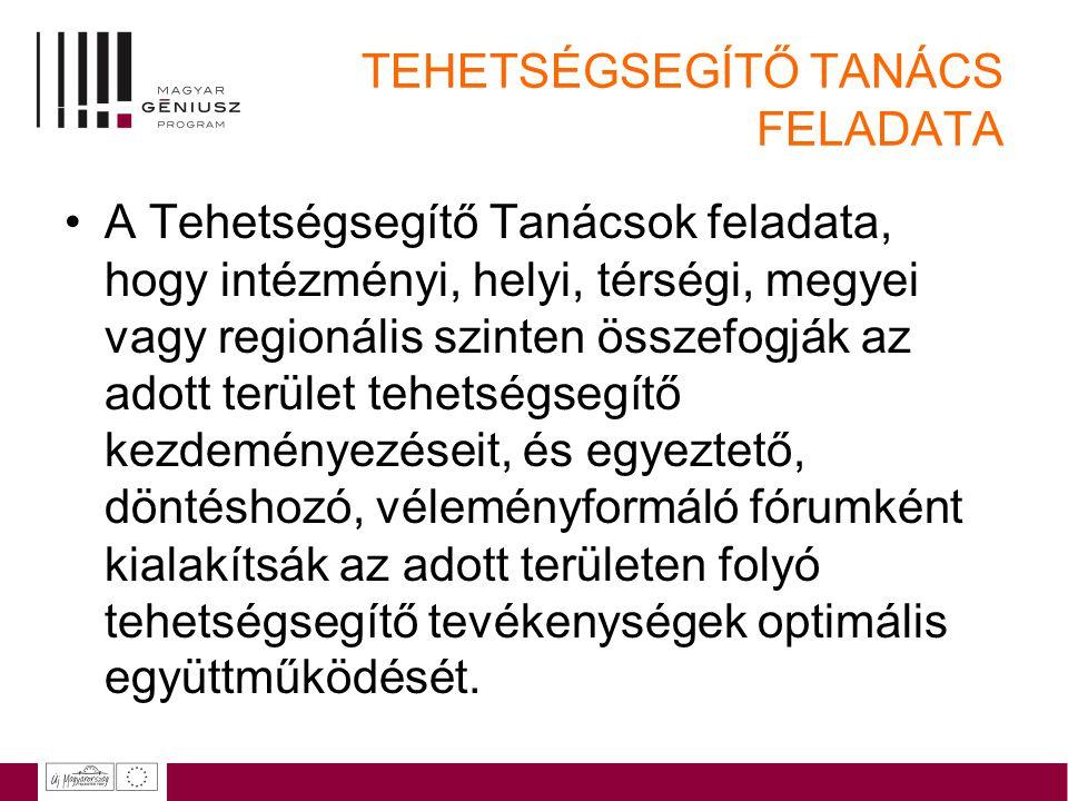 TEHETSÉGSEGÍTŐ TANÁCS FELADATA